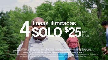 T-Mobile TV Spot, 'Cuatro líneas por $25 dólares' [Spanish] - Thumbnail 4