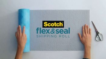 Scotch Tape Flex & Seal Shipping Roll TV Spot, 'Easier Way to Ship'