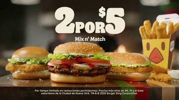 Burger King 2 for $5 Mix n' Match TV Spot, 'Opciones' [Spanish] - Thumbnail 9
