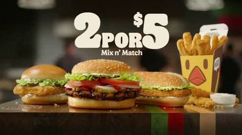 Burger King 2 for $5 Mix n' Match TV Spot, 'Opciones' [Spanish]