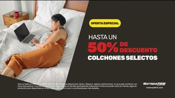 Mattress Firm Evento Summer Save & Sleep TV Spot, 'Ahorra en colchones selectos' [Spanish] - Thumbnail 4