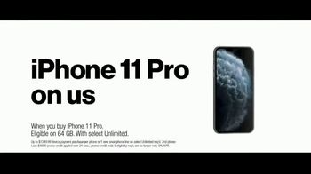 Verizon Unlimited TV Spot, 'Unlimited Built Right: iPhone 11 Pro, Apple Music and Disney+' - Thumbnail 8