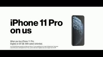 Verizon Unlimited TV Spot, 'Unlimited Built Right: Most Awarded Network + iPhone 11 Pro BOGO' - Thumbnail 7