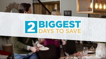 Ashley HomeStore 2 Biggest Days to Save TV Spot, '25 Percent Off'