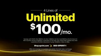 Sprint Best Unlimited Deal TV Spot, 'Saving Money: Four Lines and Four iPhone 11s' - Thumbnail 4