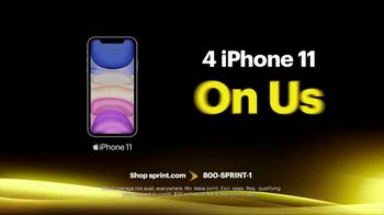 Sprint Best Unlimited Deal TV Spot, 'Saving Money: Four Lines and Four iPhone 11s' - Thumbnail 5