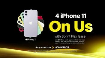 Sprint Best Unlimited Deal TV Spot, 'Saving Money: Four Lines and Four iPhone 11s' - Thumbnail 6