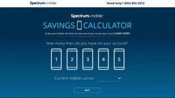 Spectrum Mobile Savings Calculator TV Spot, 'See How Much You Could Save' - Thumbnail 4