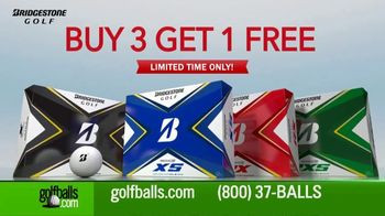Golfballs.com TV Spot, 'Buy 3 Get 1 Free: Bridgestone' Featuring Tiger Woods