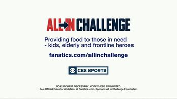 Fanatics.com TV Spot, 'All-In Challenge: NFL on CBS' - Thumbnail 10