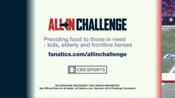 Fanatics.com TV Spot, 'All-In Challenge: NFL on CBS' - Thumbnail 8