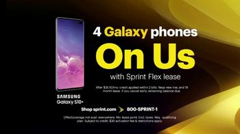 Sprint Best Unlimited Deal TV Spot, 'Four Lines and Four Galaxy Phones' - Thumbnail 6