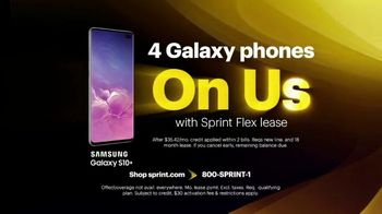 Sprint Best Unlimited Deal TV Spot, 'Four Lines and Four Galaxy Phones' - Thumbnail 7