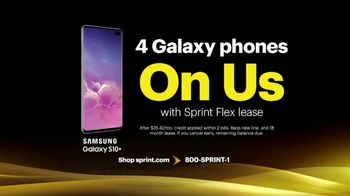 Sprint Best Unlimited Deal TV Spot, 'Saving Money: Four Lines and Four Galaxy Phones' - Thumbnail 8