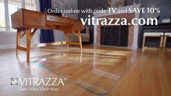 Vitrazza TV Spot, 'Glass Office Chair Mats: Save 10 Percent' - Thumbnail 10