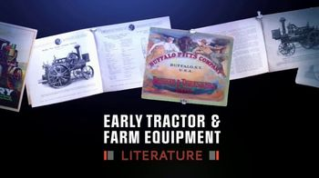 Mecum On Time Auctions TV Spot, 'Early Tractor & Farm Equipment Literature'