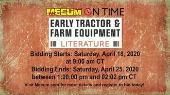 Mecum On Time Auctions TV Spot, 'Early Tractor & Farm Equipment Literature' - Thumbnail 6