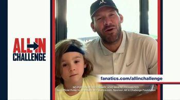 Fanatics.com TV Spot, 'All-In Challenge: CBS' Featuring Jim Nantz, Tony Romo, Tracy Wolfson - 5 commercial airings