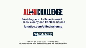 Fanatics.com TV Spot, 'All-In Challenge: CBS' Featuring Jim Nantz, Tony Romo, Tracy Wolfson - Thumbnail 10