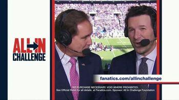 Fanatics.com TV Spot, 'All-In Challenge: CBS' Featuring Jim Nantz, Tony Romo, Tracy Wolfson - Thumbnail 4