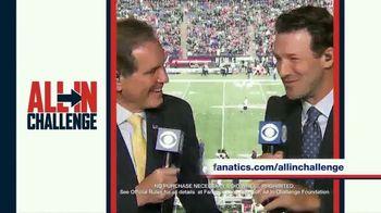 Fanatics.com TV Spot, 'All-In Challenge: CBS' Featuring Jim Nantz, Tony Romo, Tracy Wolfson - Thumbnail 8