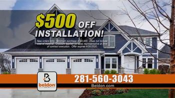 Beldon Siding TV Spot, 'Tired of Painting: $500 Off'
