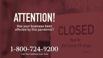 Goldwater Law Firm TV Spot, 'Affected by the Pandemic: Help File Your Claim' - Thumbnail 1