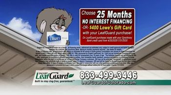 LeafGuard of Colorado $99 Install Sale TV Spot, 'Give Up Gutter Cleaning' - Thumbnail 3