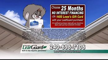 LeafGuard of DC $99 Install Sale TV Spot, 'Overflowing Gutters' - Thumbnail 5