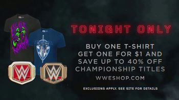 WWE Shop TV Spot, 'Crafted by History: BOGO T-Shirts' - Thumbnail 7
