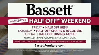 Bassett Once-A-Year Half Off Weekend TV Spot, 'We Love It' - Thumbnail 8
