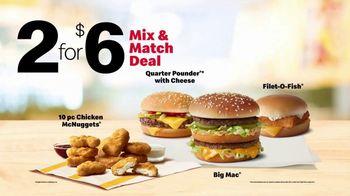 McDonald's 2 for $6 Mix & Match Deal TV Spot, 'More Than a Meal' - Thumbnail 7