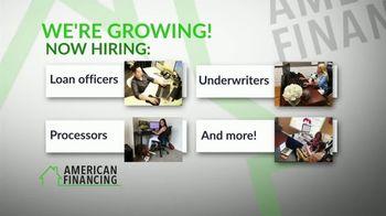 American Financing TV Spot, 'Growing: Hiring' - Thumbnail 4