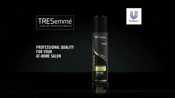TRESemmé TRES TWO Extra Hold Hair Spray TV Spot, 'Style Your Hair At Home' - Thumbnail 10