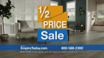 Empire Today 1/2 Price Sale TV Spot, 'Get Gigantic Savings on Beautiful New Floors'