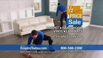 Empire Today 1/2 Price Sale TV Spot, 'Get Gigantic Savings on Beautiful New Floors' - Thumbnail 7