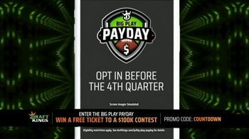 DraftKings Big Play Payday TV Spot, 'First Las Vegas Home Game' - 9 commercial airings