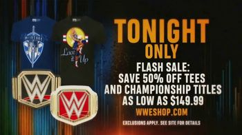 WWE Shop Flash Sale TV Spot, 'Bring It On: 50% Off Tees and Championship Titles as low as $149.99' - Thumbnail 7