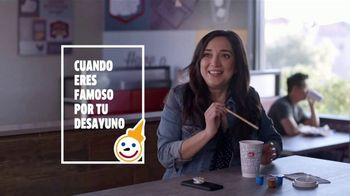 Jack in the Box Boosted Coffees TV Spot, 'Desayuno famosa: foto' [Spanish] - Thumbnail 1