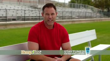 Hempvana Pain Relief Cream TV Spot, 'After 12 Years: Hand Sanitizer' Featuring Mike Alstott - Thumbnail 4