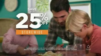 Ashley HomeStore TV Spot, 'Fever-Free Showrooms: 25 Percent Off'