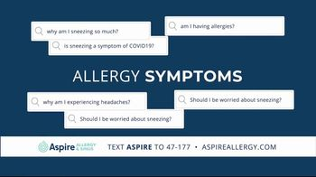 Aspire Allergy & Sinus TV Spot, 'We're Here for You' - Thumbnail 2