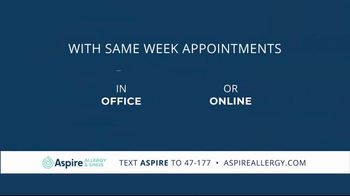 Aspire Allergy & Sinus TV Spot, 'We're Here for You' - Thumbnail 4
