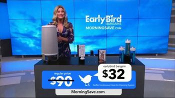 MorningSave Early Bird Bargains TV Spot, 'Clean Air System, Earbuds and Water Bottle' - Thumbnail 4