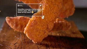 Jack in the Box Spicy Chicken Strips Combo TV Spot, 'A Little Birdie Told Me' - Thumbnail 3