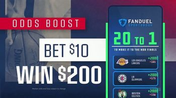 FanDuel SportsBook TV Spot, 'It's NBA Playoff Time: 20 to One Odds Boost' - Thumbnail 4