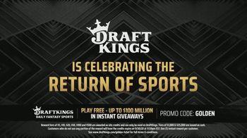 DraftKings $100 Million Golden Ticket Giveaway TV Spot, 'Celebrating the Return of Sports'
