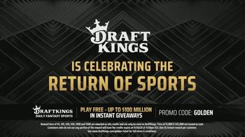 DraftKings $100 Million Golden Ticket Giveaway TV Spot, 'Celebrating the Return of Sports' - Thumbnail 2