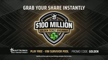 DraftKings $100 Million Golden Ticket Giveaway TV Spot, 'Celebrating the Return of Sports' - Thumbnail 6