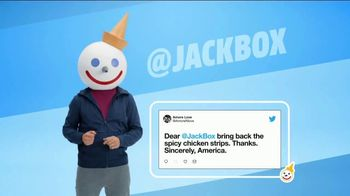 Jack in the Box Spicy Chicken Strips Combo TV Spot, 'So Many Tweets' - Thumbnail 1